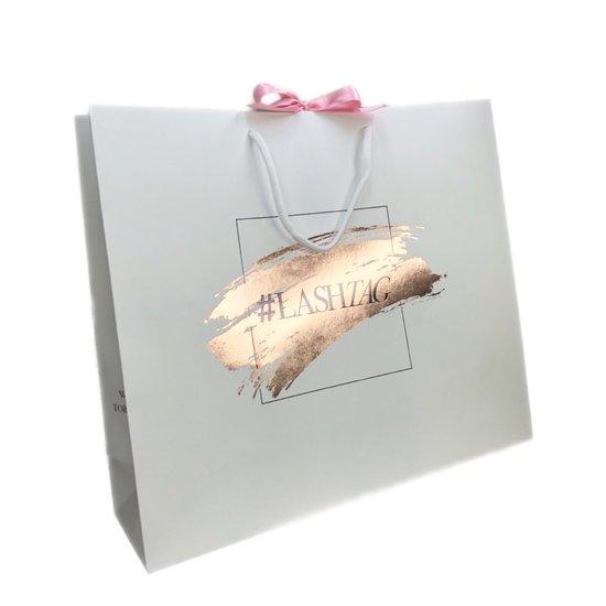 lashtag rose gold giftbag