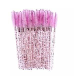 mascaraborstel licht roze glitter lashtag